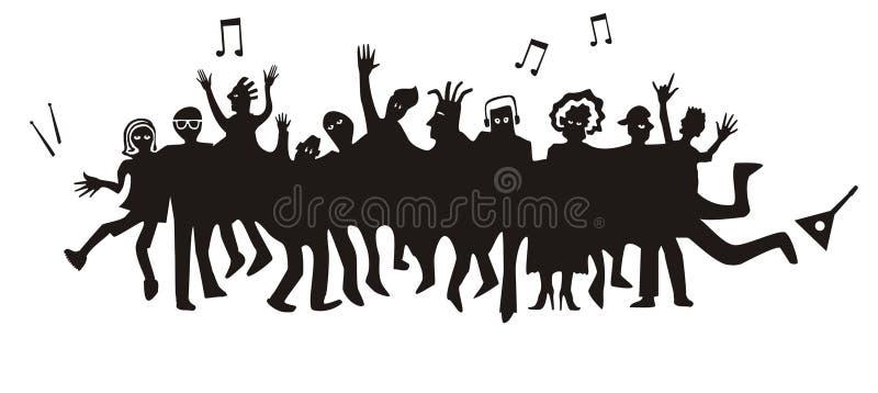 Download Crowd stock vector. Image of dancing, audience, cartoon - 19149015