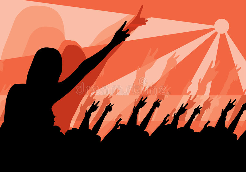 Download Crowd stock vector. Image of illustration, crowd, arms - 5672994