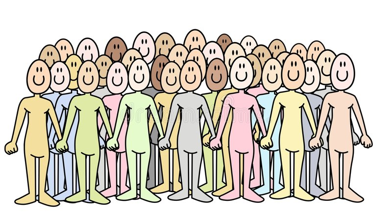Download Crowd stock vector. Image of population, cartoon, different - 6734080