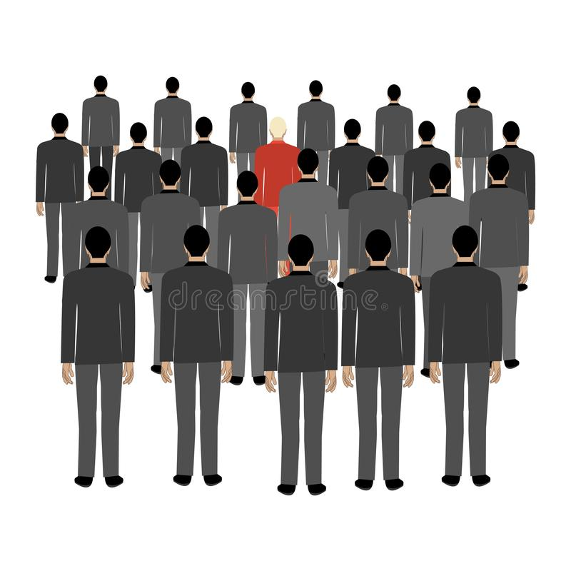 Crowd against personality royalty free illustration