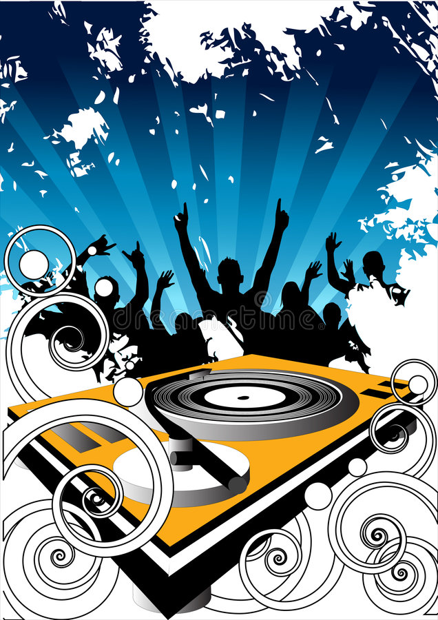 Free Crowd And Turntable Royalty Free Stock Photos - 2621848