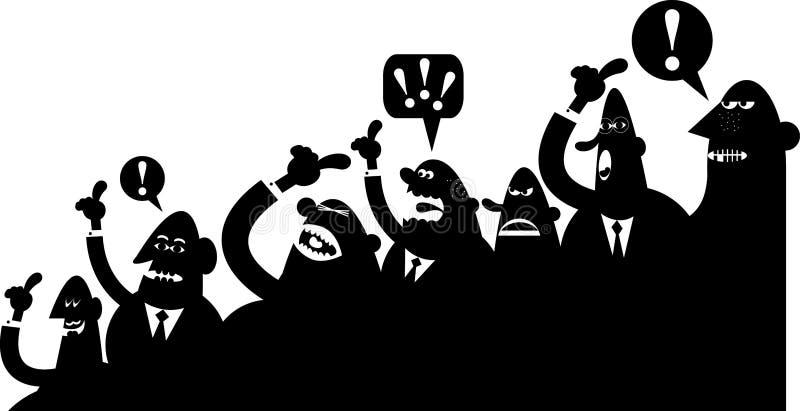 Download Crowd argument stock vector. Image of rudeness, freak - 9233547