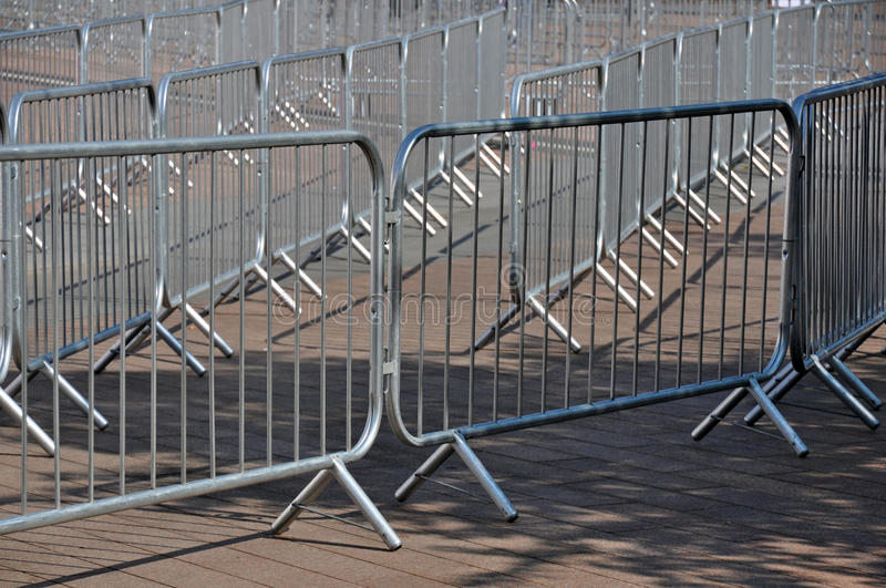 Crowd Barriers detail stock photo