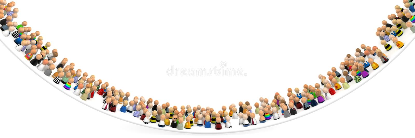 Download Crowd Bend stock illustration. Image of smile, difference - 10983535