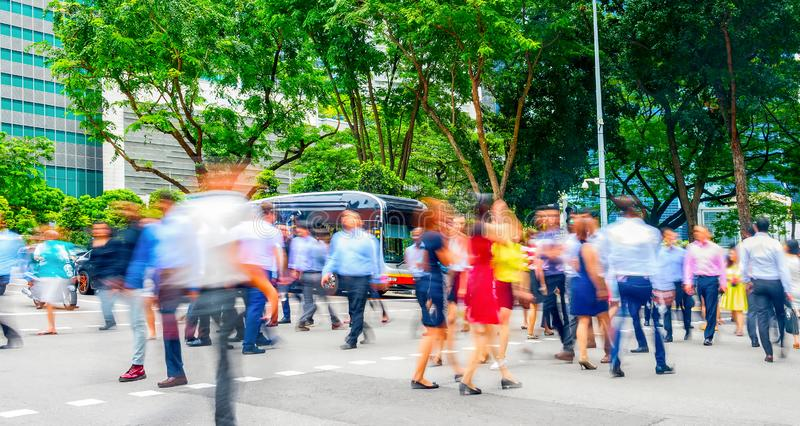 road crowd business people panorama royalty free stock image