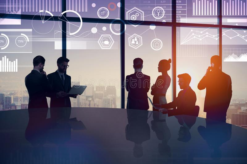 Meeting and success concept royalty free stock photo