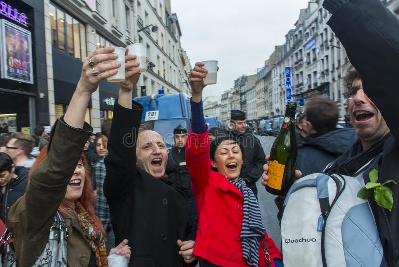 Download Crowd Celebrating Results French President Editorial Stock Image - Image: 24677024