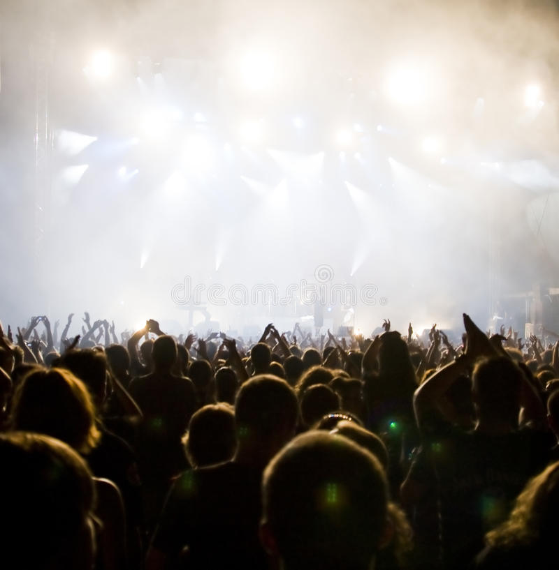 Download Crowd At Concert Stock Photo - Image: 10345250