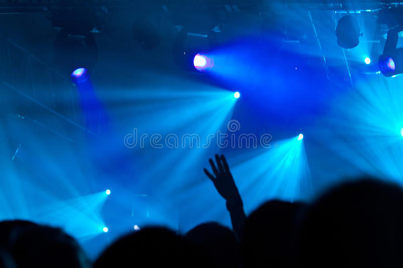 Download Crowd at concert stock image. Image of decoration, happy - 26528793