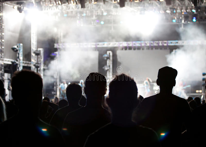 Download Crowd at concert stock image. Image of people, live, group - 26528819