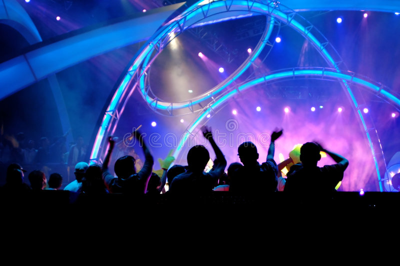 Crowd in the concert royalty free stock image