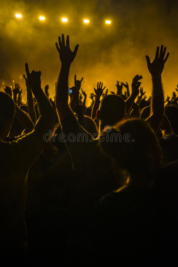 Download Crowd in a concert stock image. Image of human, band - 27504775