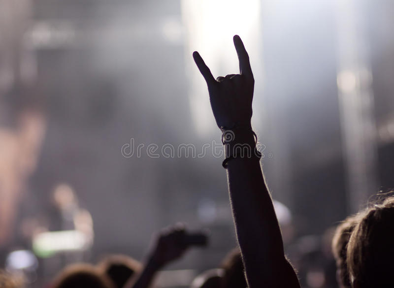 Crowd at concert stock image