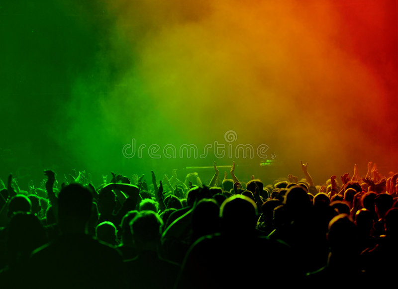 Download Crowd at concert stock photo. Image of music, band, cheerful - 5687946