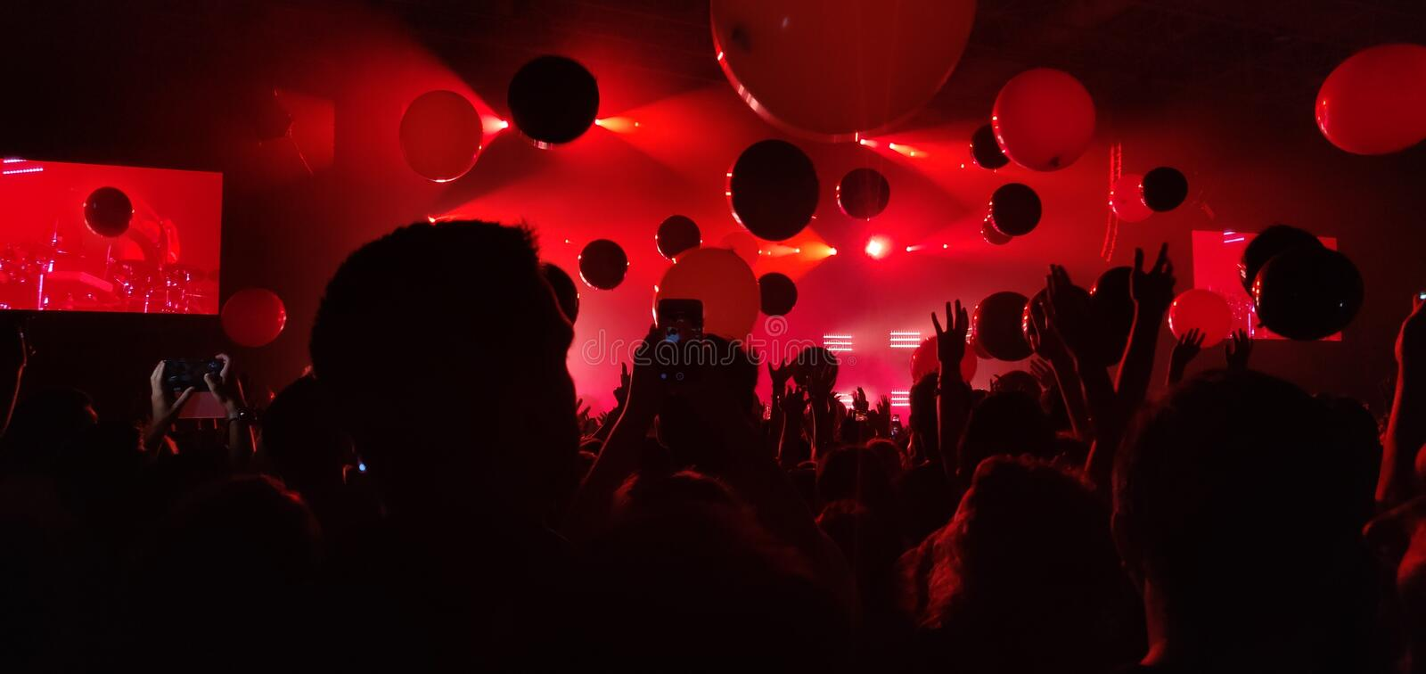 Crowd at concert. royalty free stock images
