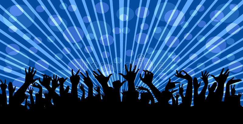 Crowd at a concert vector illustration