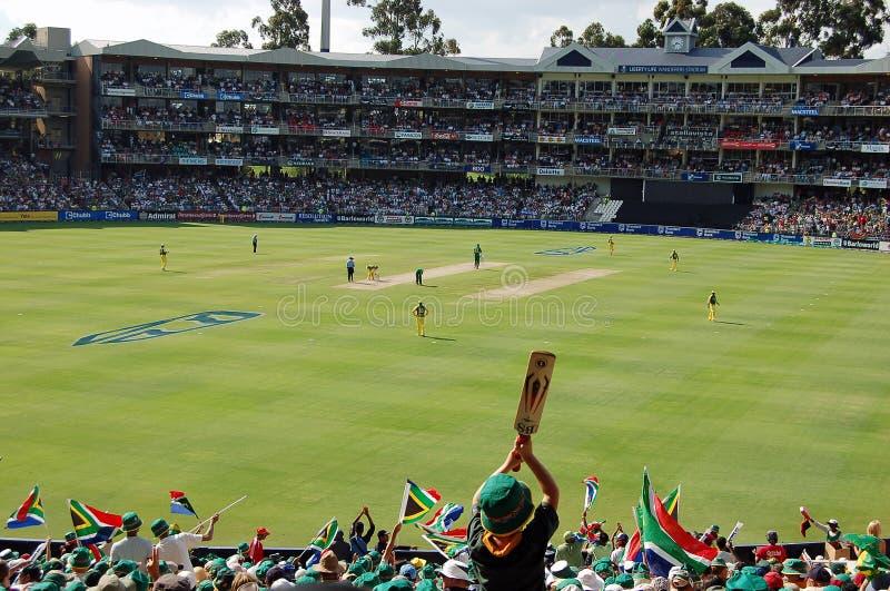 Crowd in Cricket Stadium stock photo