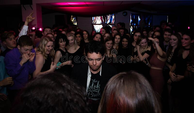 Crowd of dancers at club royalty free stock photography