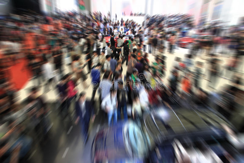 Download Crowd at exhibition. stock image. Image of modern, design - 33150295