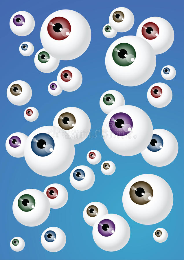 Download Crowd of Eyeballs stock illustration. Illustration of concept - 41558457