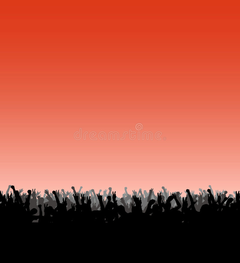 Crowd of fan. Vector representation of a crowd of fan royalty free illustration