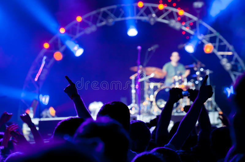 Download Crowd of fans at a concert stock photo. Image of clap - 19883884