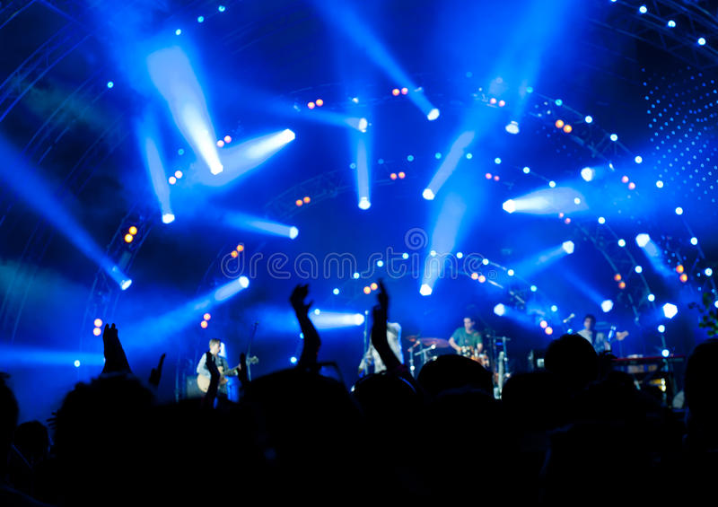 Download Crowd of fans at a concert stock photo. Image of musician - 20908752