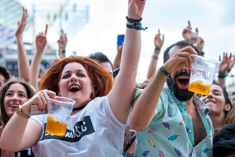 The crowd at Festival de les Arts stock image