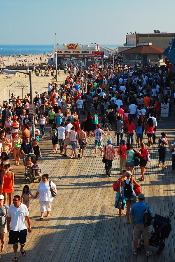 Summers day on the boardwalk. royalty free stock photos