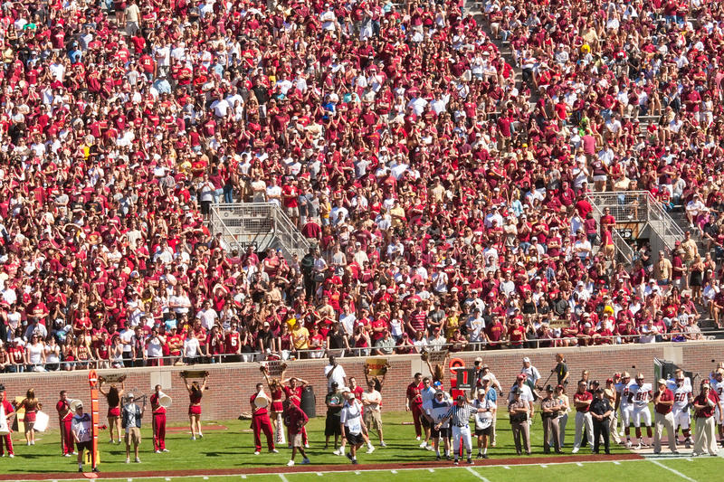 Download Crowd at Football Game editorial photo. Image of sold - 20957206