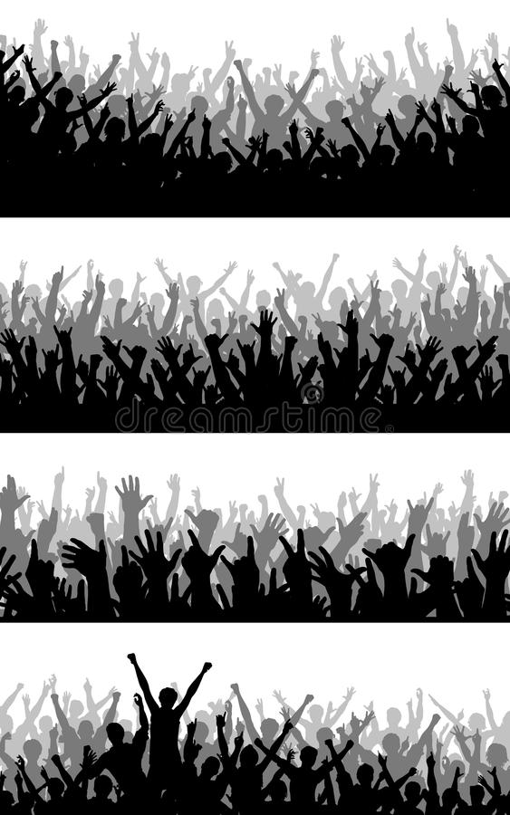 Download Crowd foregrounds stock vector. Image of celebrate, outline - 11763637
