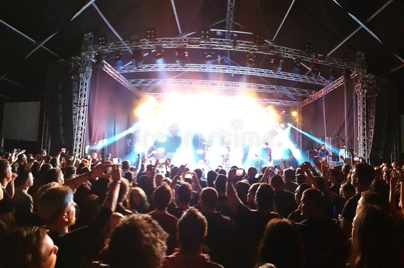 Rock concert stage royalty free stock photos