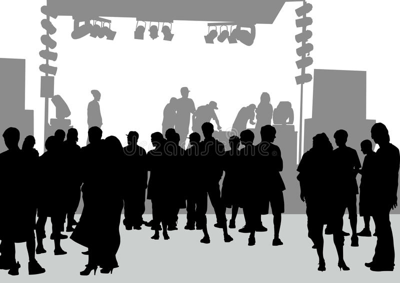 Download Crowd In Front Of The Stage Stock Vector - Image: 24380898