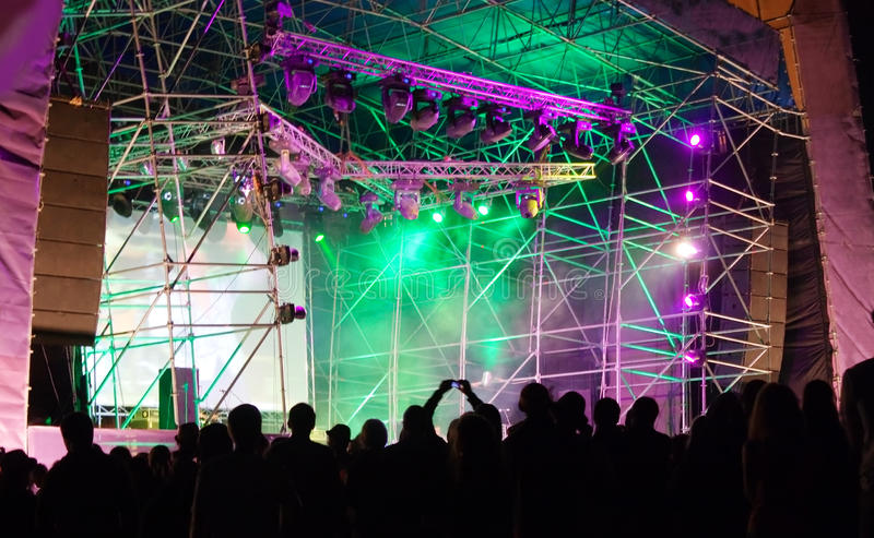 Download Crowd In Front Of The Stage At A Concert Stock Images - Image: 21575014