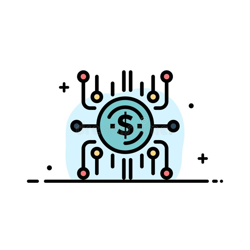 Crowd fund, Crowd funding, Crowd sale, Crowd selling, Funding  Business Flat Line Filled Icon Vector Banner Template stock illustration