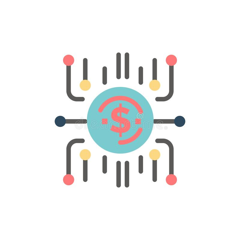 Crowd fund, Crowd funding, Crowd sale, Crowd selling, Funding  Flat Color Icon. Vector icon banner Template stock illustration
