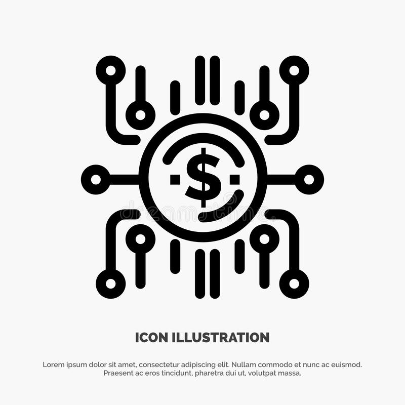 Crowd fund, Crowd funding, Crowd sale, Crowd selling, Funding Line Icon Vector stock illustration