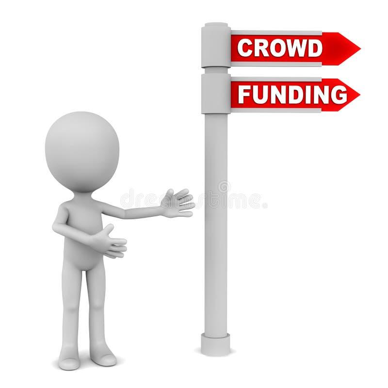 Crowd funding stock illustration