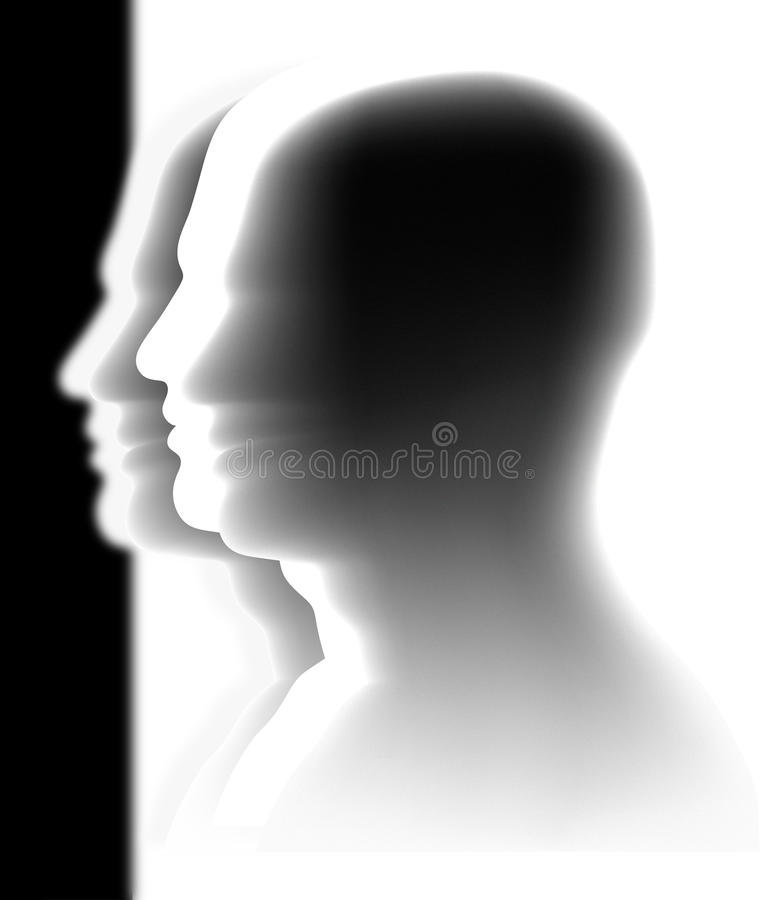Crowd - heads - teamwork. Abstract image - various heads - anonymous crowd vector illustration