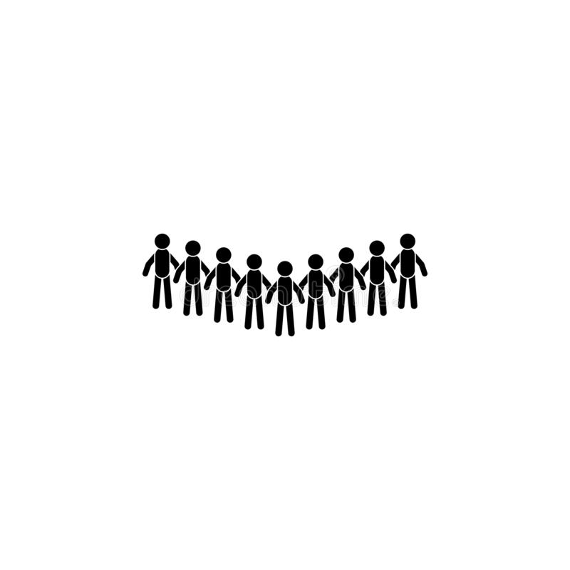 Crowd icon. Simple glyph, flat vector of People talk icons for UI and UX, website or mobile application. On dark gradient background vector illustration