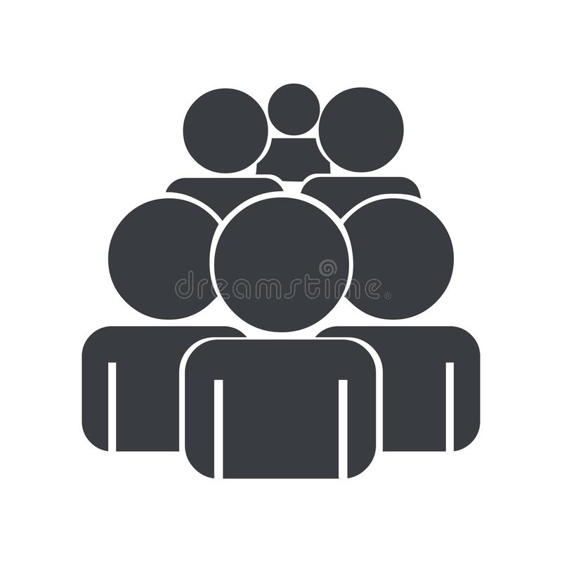 Crowd icon vector illustration.Group of people vector. Vector illustration of group of people.Crowd icon vector. Group icon vector illustration