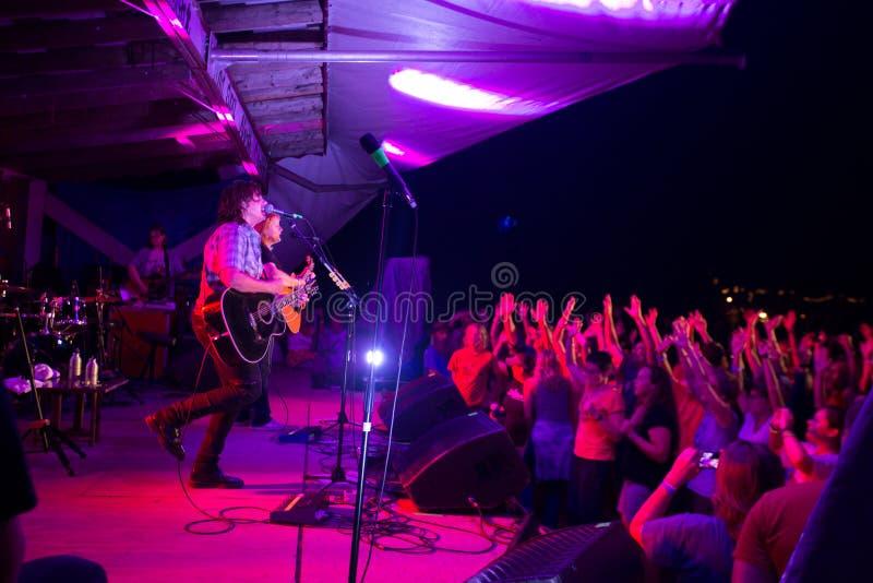 Crowd at the Indigo Girls Concert royalty free stock image