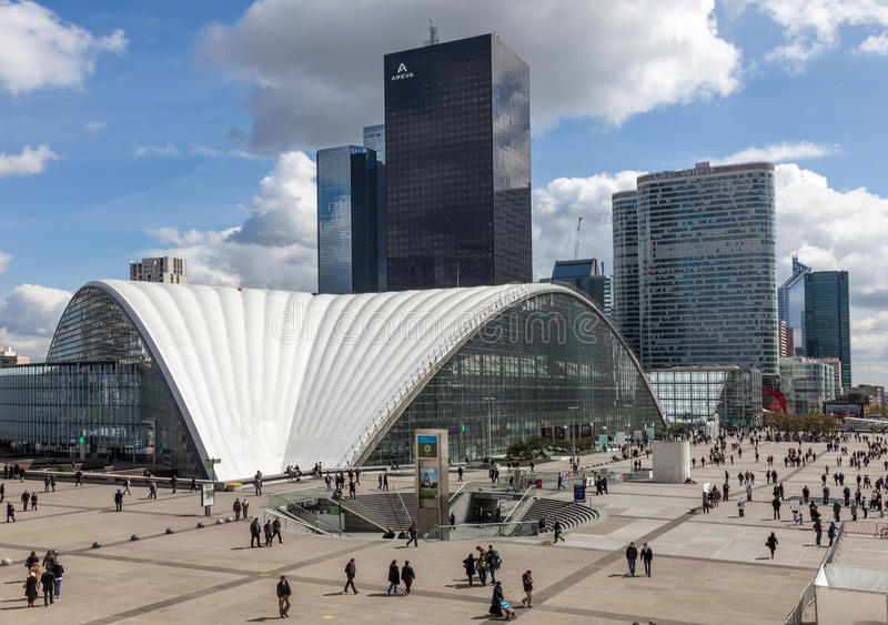Crowd in La Defense royalty free stock photography