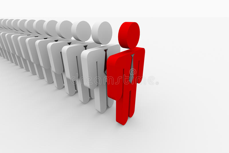 Crowd in line form vector illustration