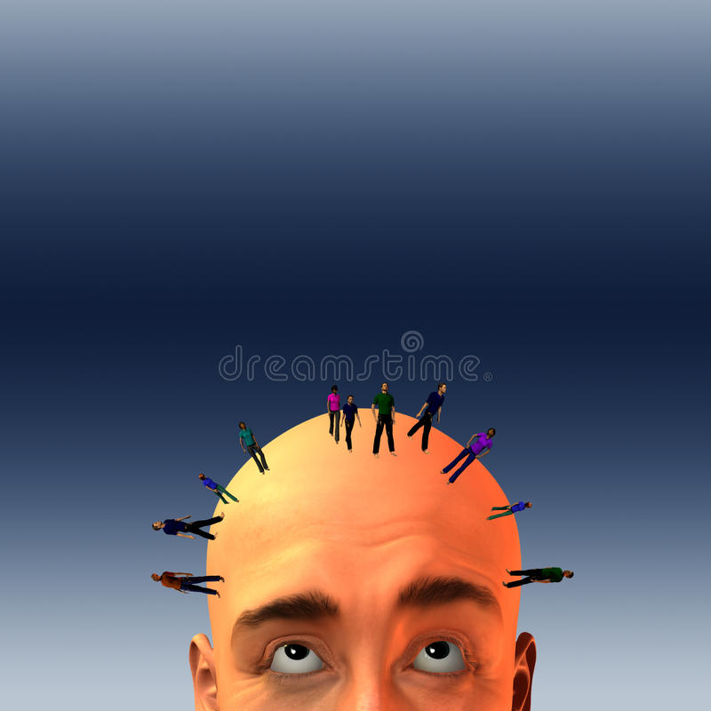 Download Crowd on mans head stock illustration. Illustration of council - 21962403