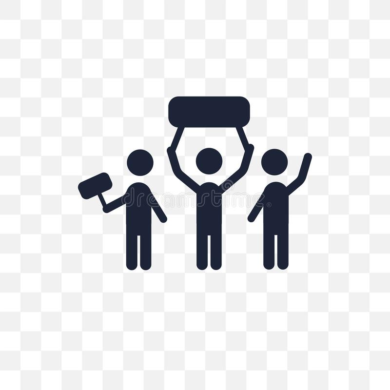 crowd March transparent icon. crowd March symbol design from Uni royalty free illustration