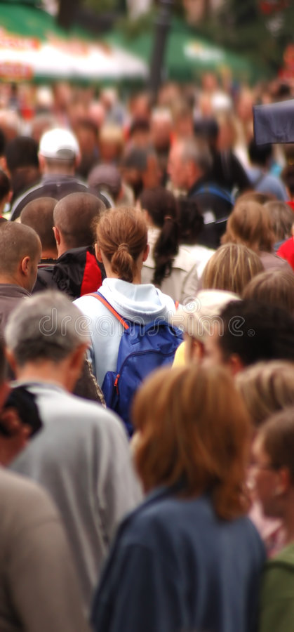 Crowd in motion royalty free stock photography