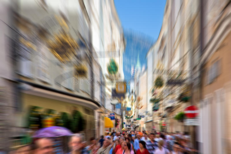 Download Crowd On A Narrow City Street Stock Photo - Image: 19798414