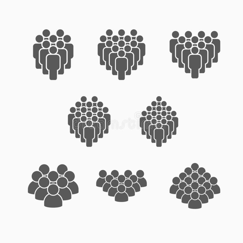 Free Crowd Of People Set Icon, Crowd Set Vector, Peoples Set Royalty Free Stock Image - 177263296