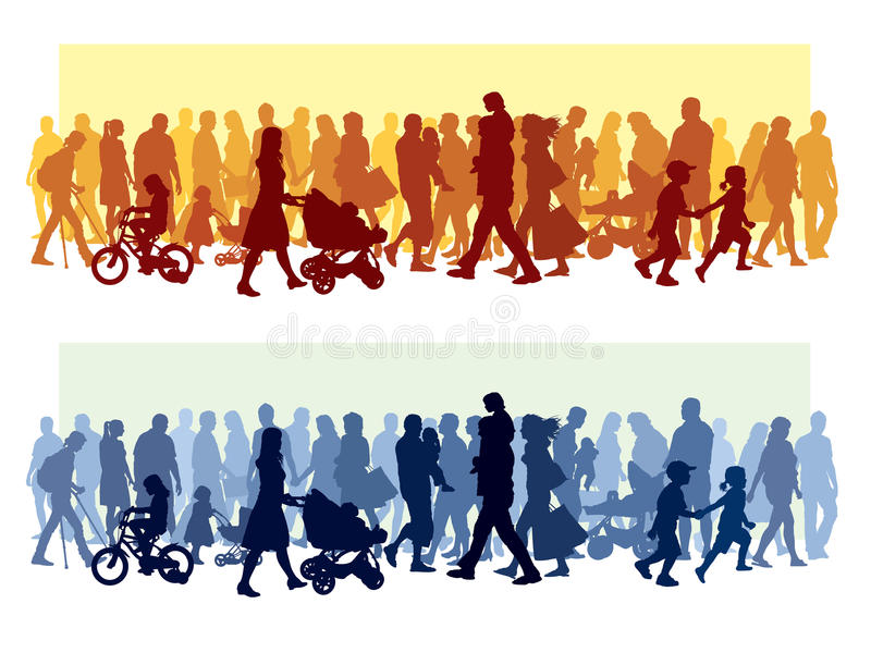 Crowd of people royalty free illustration
